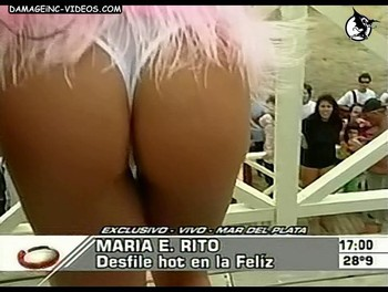 Maria Eugenia Rito horny ass in white thong damageinc videos