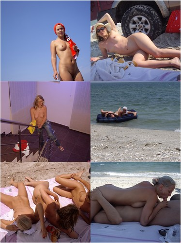 Three Nude Horny Blondes On Holiday
