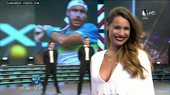 Pampita deep cleavage in live TV